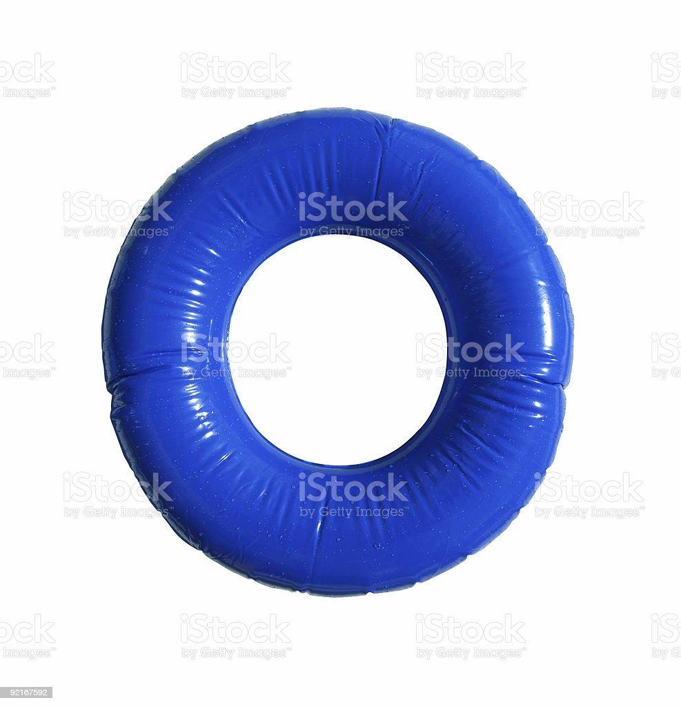 Blue inner tube royalty-free stock photo