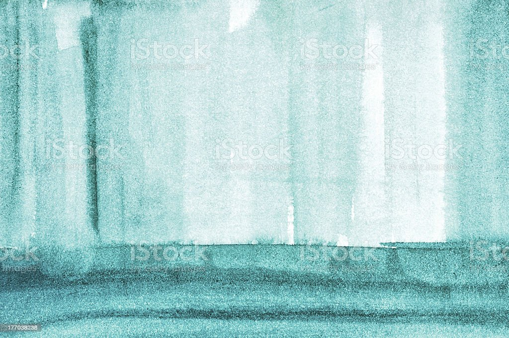 Blue interior concept, watercolor design royalty-free stock photo