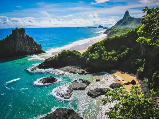 blau-insel-paradies - brasilien stock-fotos und bilder