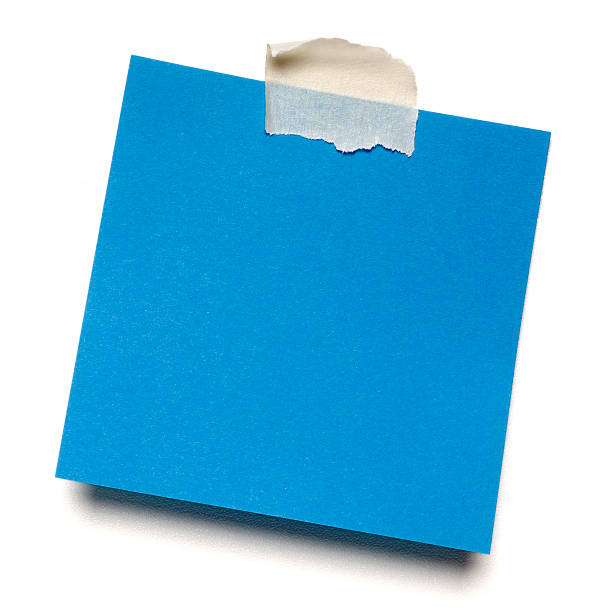 Blue isolated post-it note - foto stock
