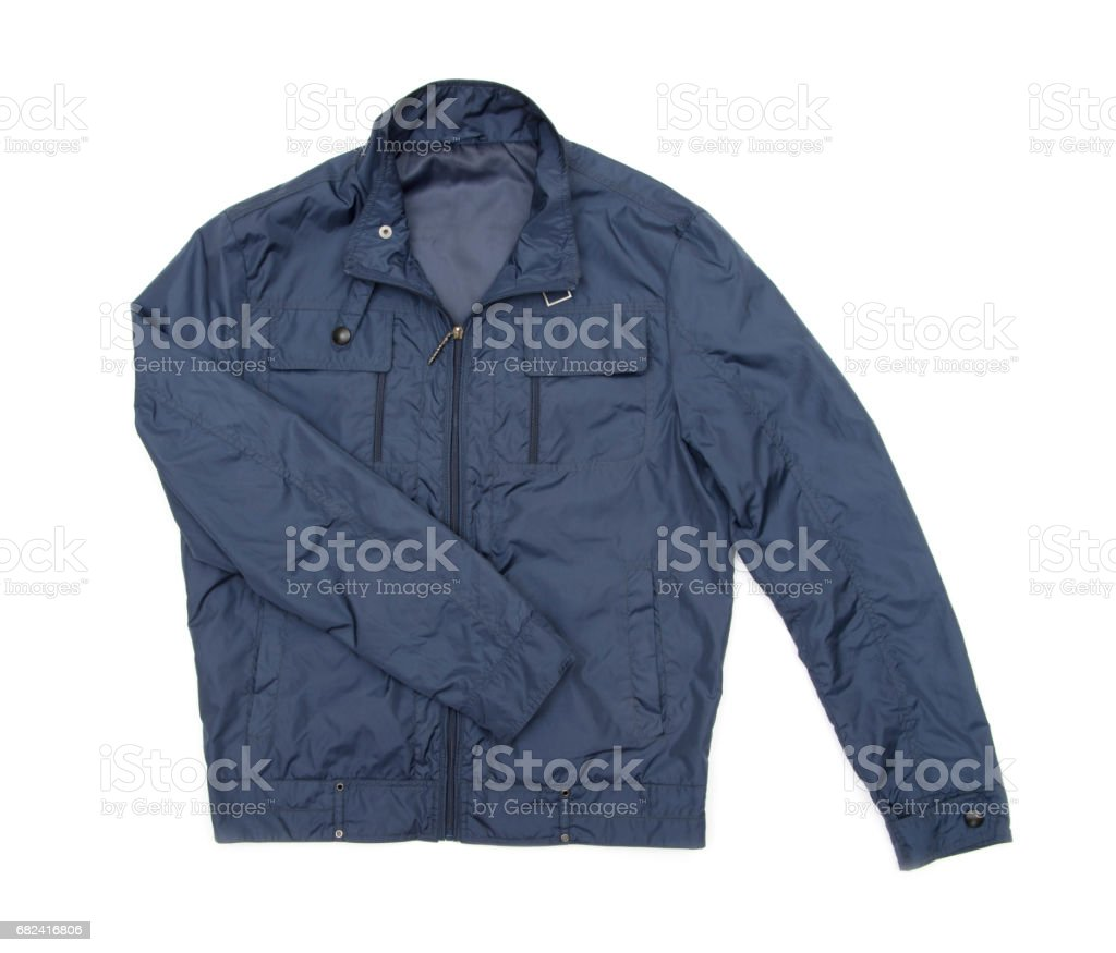 blue jacket royalty-free stock photo