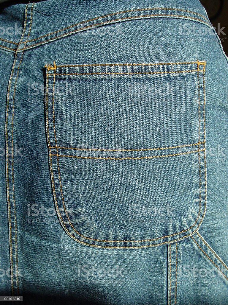 blue jean pockett royalty-free stock photo