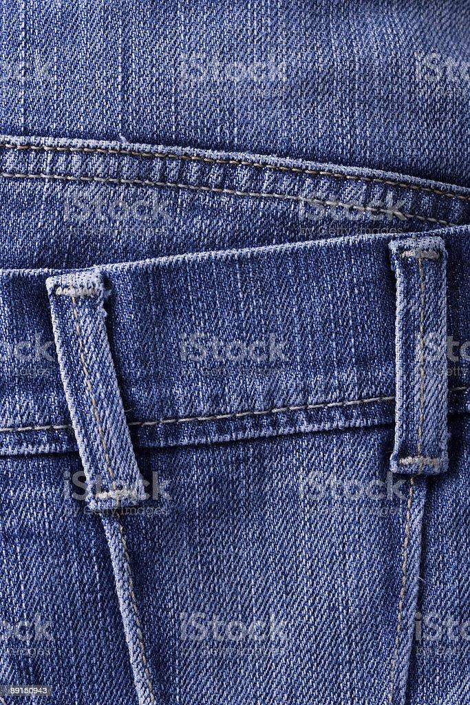 Pormenores de ganga azul - fotografia de stock
