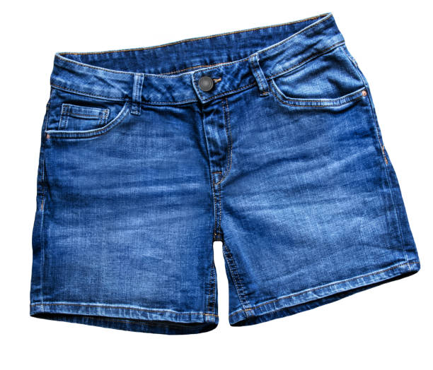 Blue Jeans  Fashion Short Blue Jeans Fashion  against white background shorts stock pictures, royalty-free photos & images
