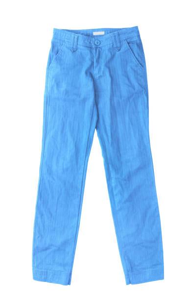 blaue jeans isoliert auf weißem hintergrund - dresses online shop stock-fotos und bilder