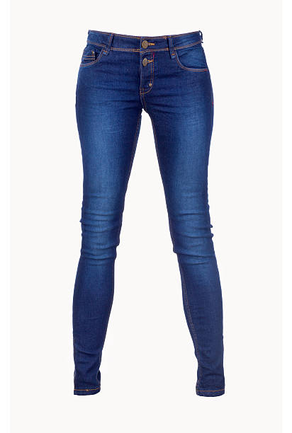 Blue Jeans Isolated on White Blue Jeans Isolated on White skinny jeans stock pictures, royalty-free photos & images
