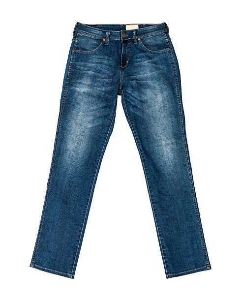 jeans azul isolado com caminho de recorte - calça comprida - fotografias e filmes do acervo