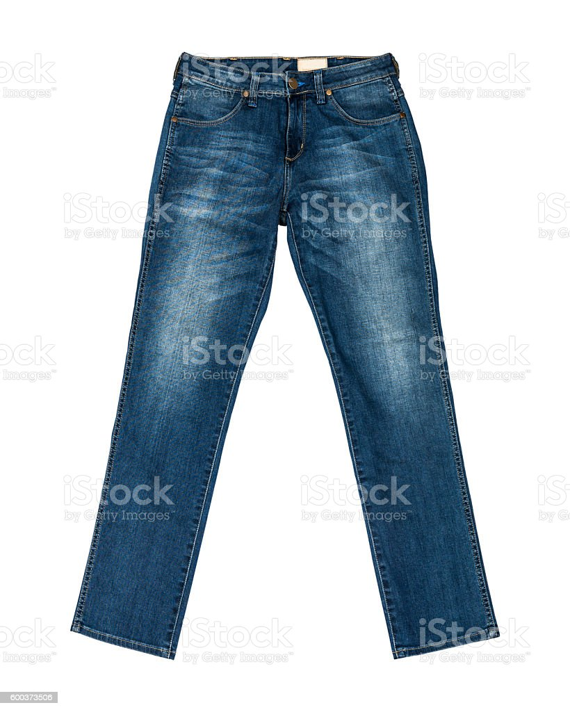Blue Jeans Isolated with clipping path stock photo