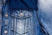 Blue jeans jacket background