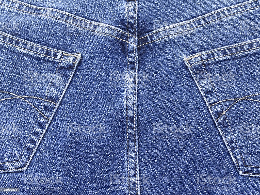 Blue jeans on back royalty-free stock photo
