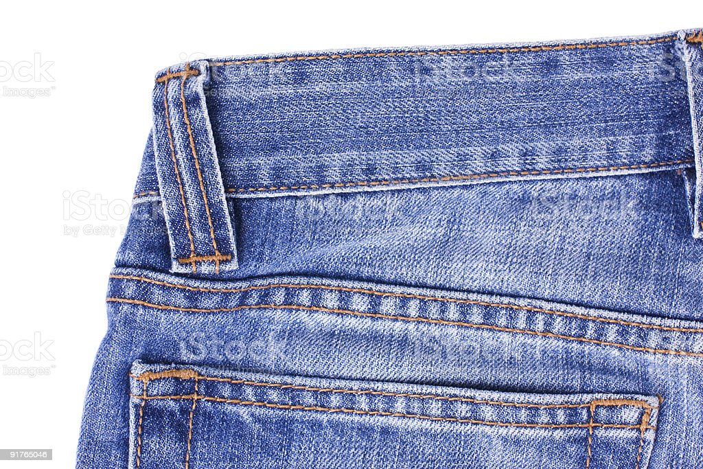 Blue Jeans on white royalty-free stock photo