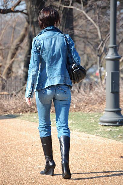 Jeans azul - foto de acervo
