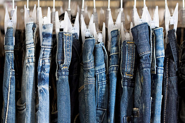 blue jeans - jeans stock photos and pictures
