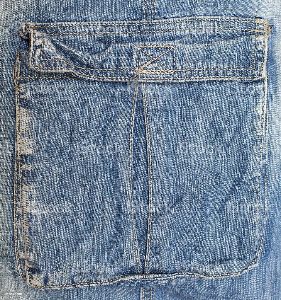 blue jeans pocket royalty-free stock photo