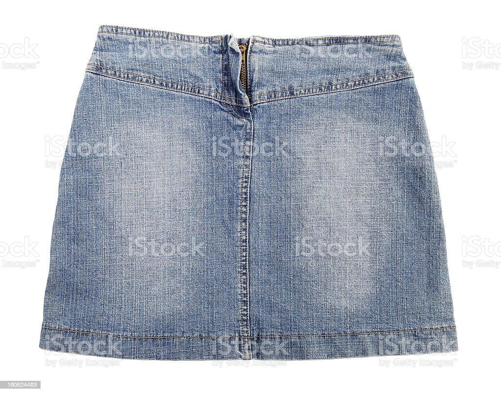Blue jeans skirt stock photo