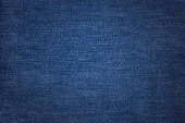 Blue jeans texture. Fabric background.