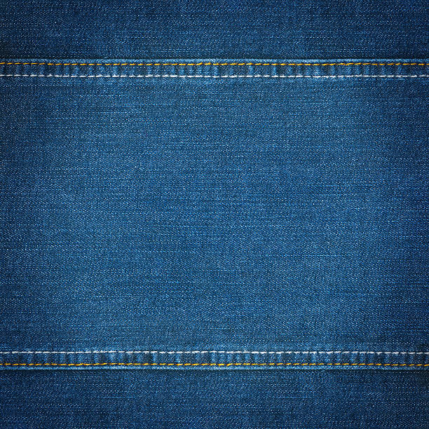 Blue jeans texture stock photo