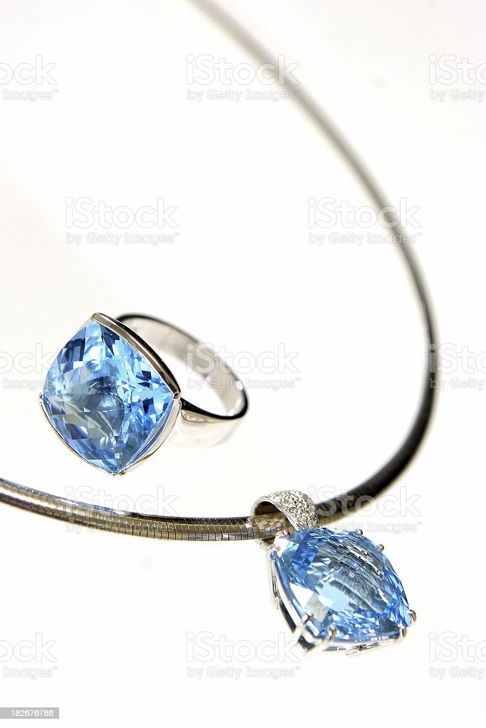 Blue Jewels royalty-free stock photo