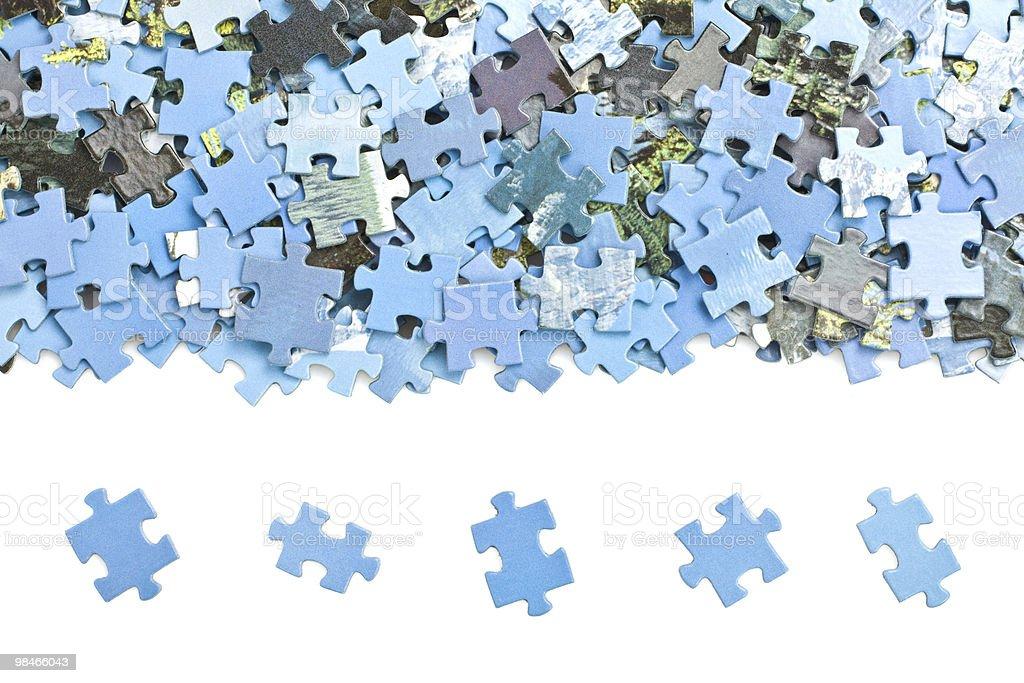블루 지그소 낱말퍼즐 pices. royalty-free 스톡 사진