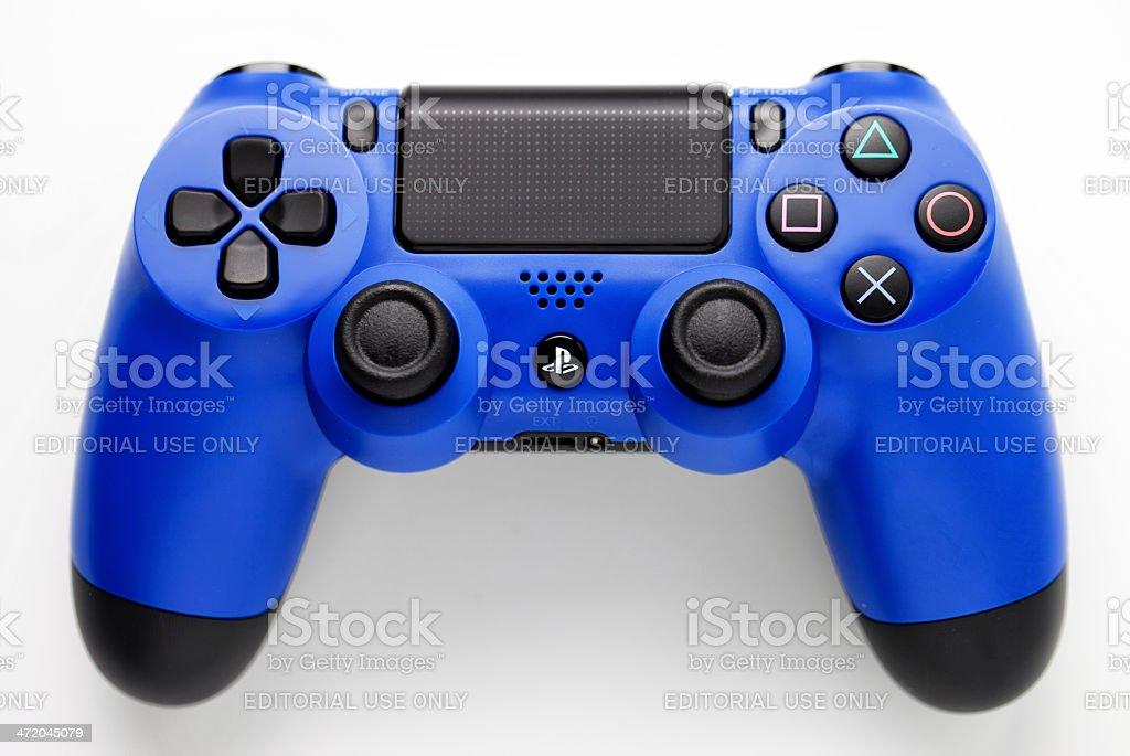 Blue joypad for Play Station 4 stock photo