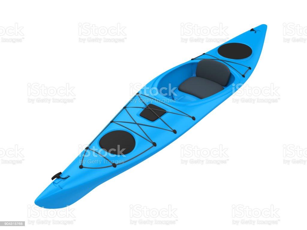Blue Kayak Isolated stock photo