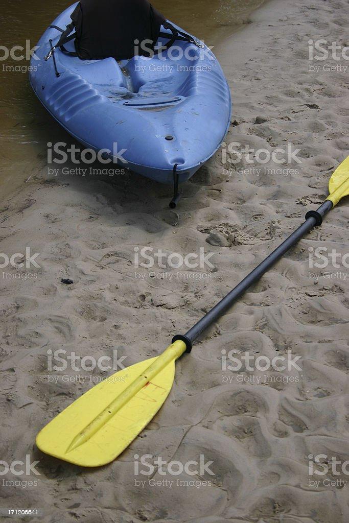 Blue Kayak royalty-free stock photo