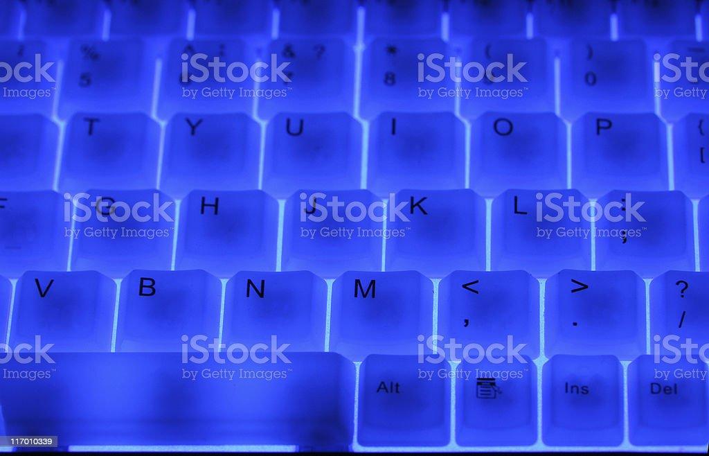 Blue keyboard. royalty-free stock photo