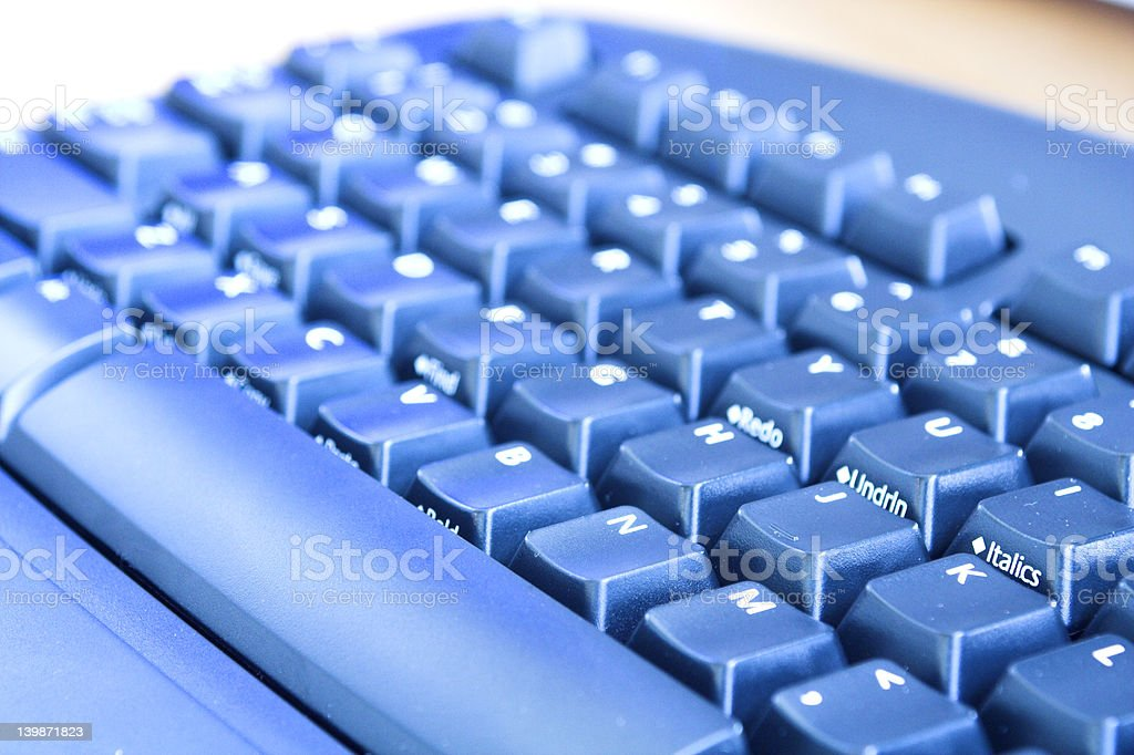 blue keyboard stock photo