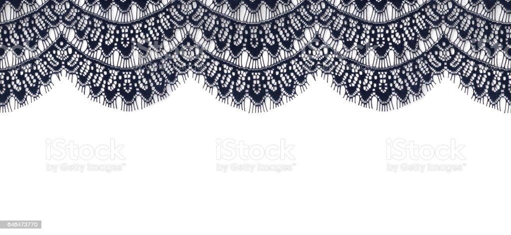 Blue lace edge stock photo
