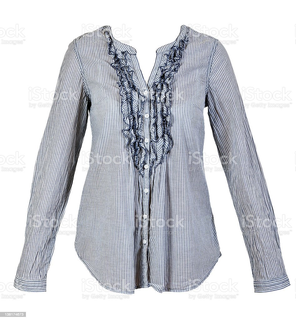 blue ladies shirt stock photo