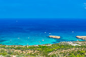 Blue lagoon at Akamas peninsula on Cyprus