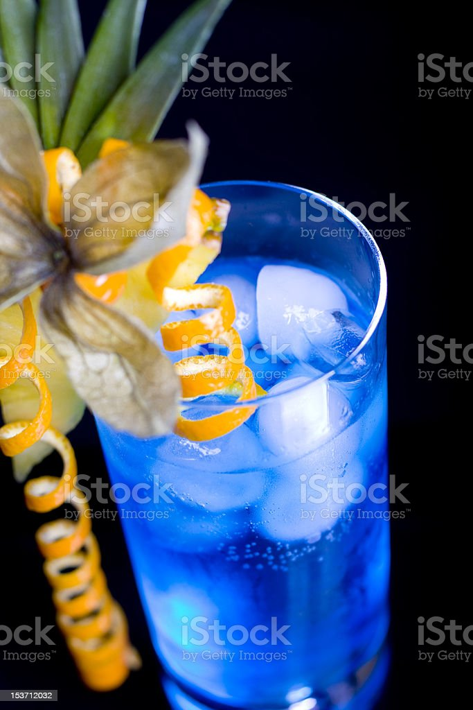 blue lagoon cocktail royalty-free stock photo