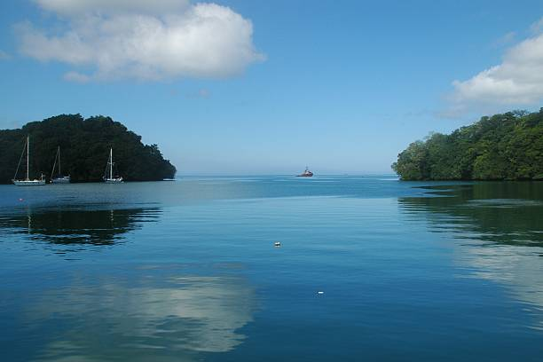 Blue Lagoon Fiji stock photo