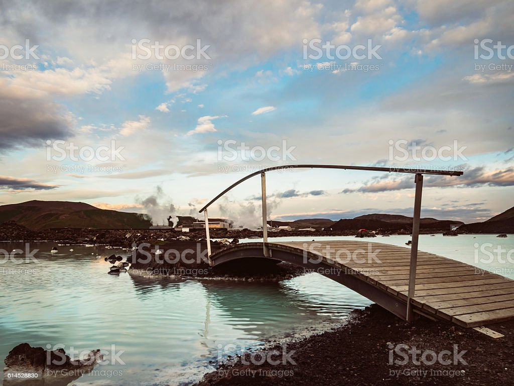 Blue lagoon, Iceland stock photo