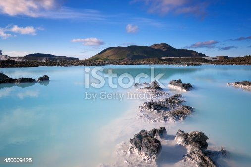 The Blue Lagoon. Hot pool in Iceland.
