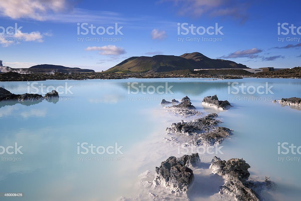 Blue Lagoon  in Iceland stock photo