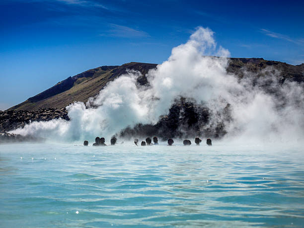 blue lagoon on iceland - hot spring stock photos and pictures