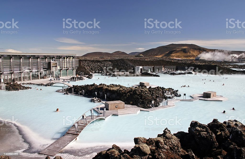 Blue Lagoon resort view featuring the sky royalty-free stock photo