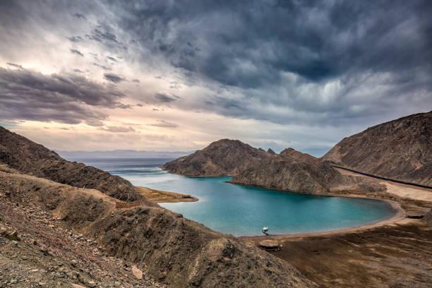 Blue lagoon Sinai stock photo