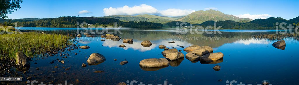Blue lake, calm water royalty-free stock photo