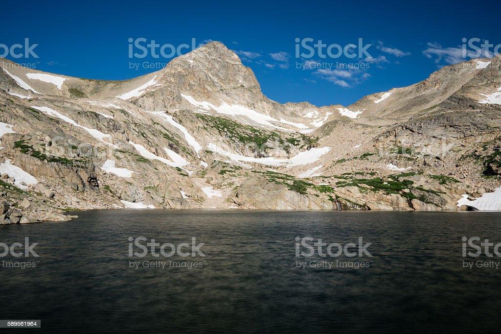 Blue Lake, Colorado stock photo