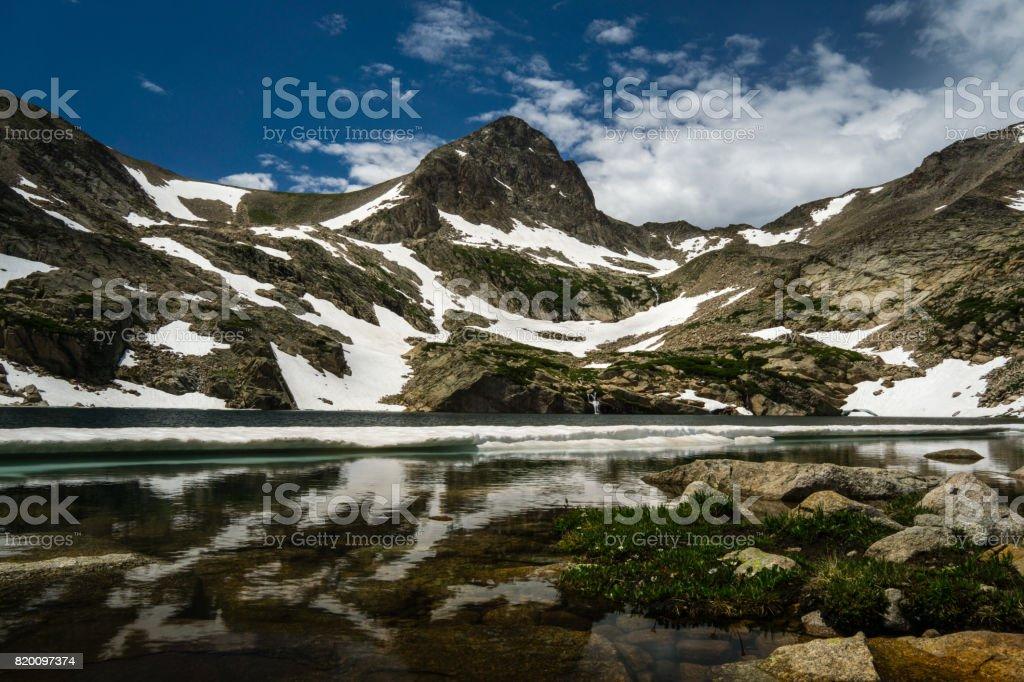 Blue Lake - Colorado stock photo