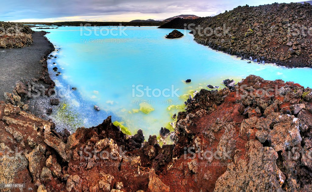 Blue lake Iceland stock photo