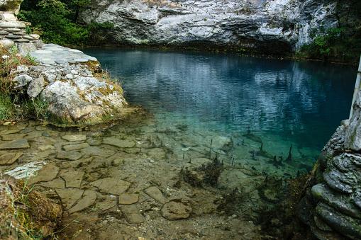 istock Blue lake in Abkhazia 922761114