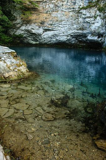 istock Blue lake in Abkhazia 922764690