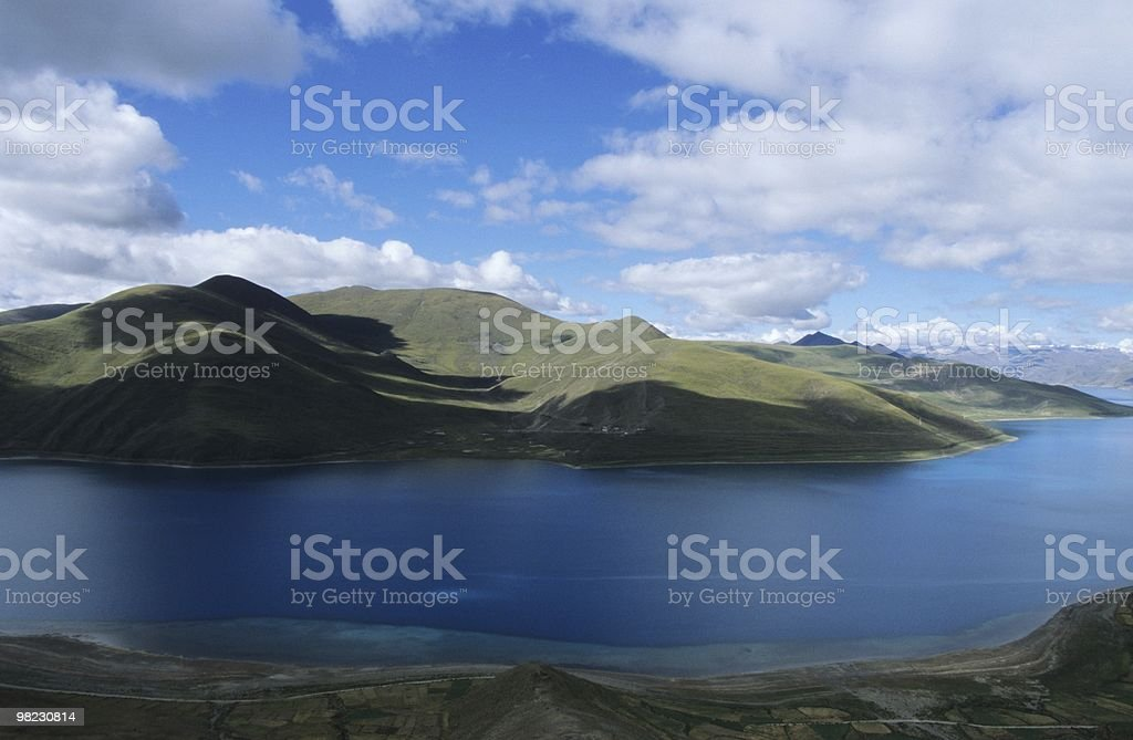 blue lake royalty-free stock photo