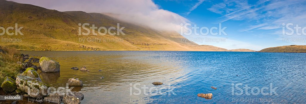 Blue lake, tranquil mountain royalty-free stock photo
