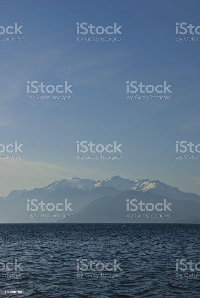 Blue Lake view royalty-free stock photo
