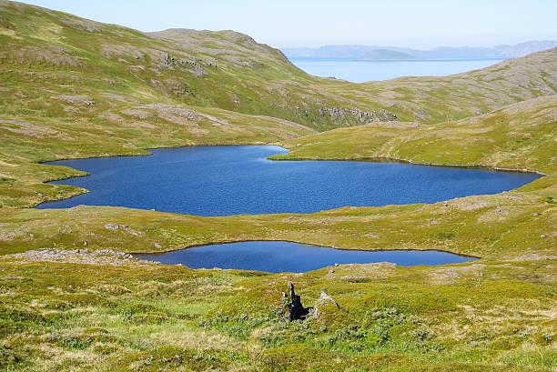 Blue lagos de verão Soroya. - foto de acervo