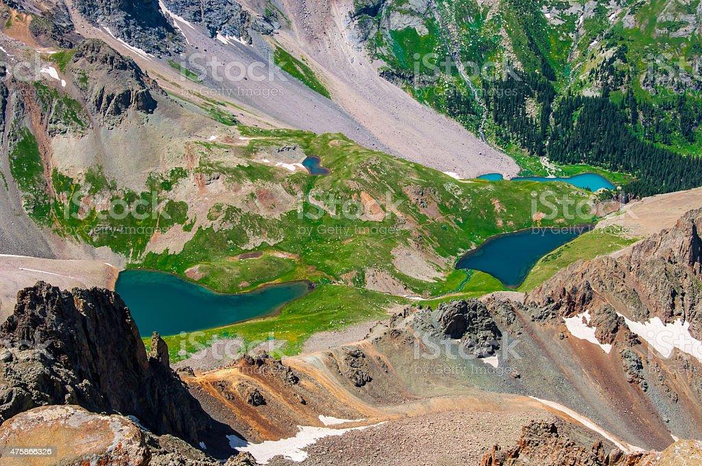 Blue Lakes Telluride Hidden Gem San Juan Mountain Paradise stock photo